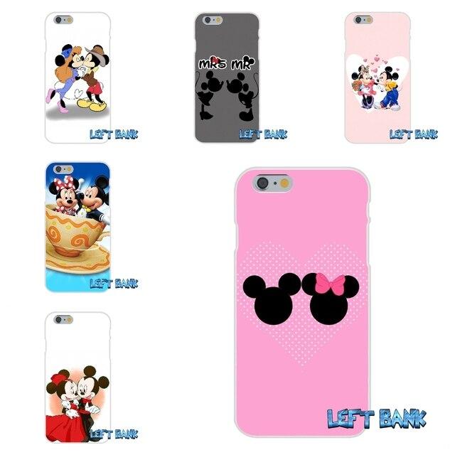 eb8711bb1d1 Dibujos Animados Minnie Mickey Mouse besando gel de sílice suave TPU  teléfono funda de silicona para