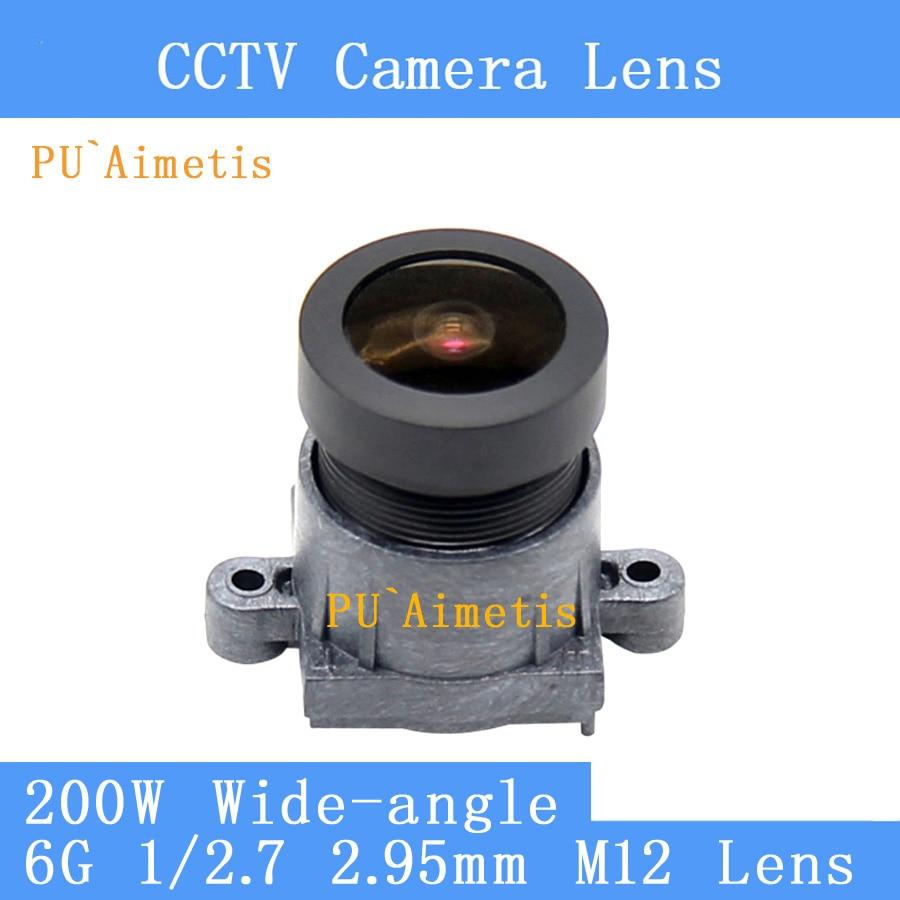 PU`Aimetis 2MP Wide-angle F/1.8 2.95mm motion DV lens ultra wide angle full glass 6G HD M12 CCTV lens Security CameraPU`Aimetis 2MP Wide-angle F/1.8 2.95mm motion DV lens ultra wide angle full glass 6G HD M12 CCTV lens Security Camera