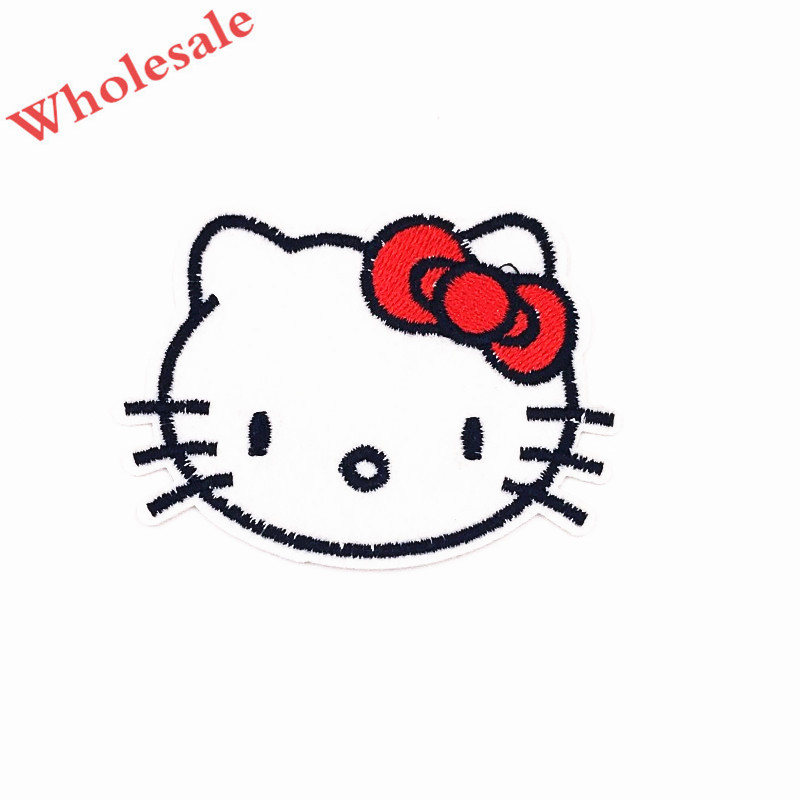Hello Kitty red ribbon sew on iron on patch new