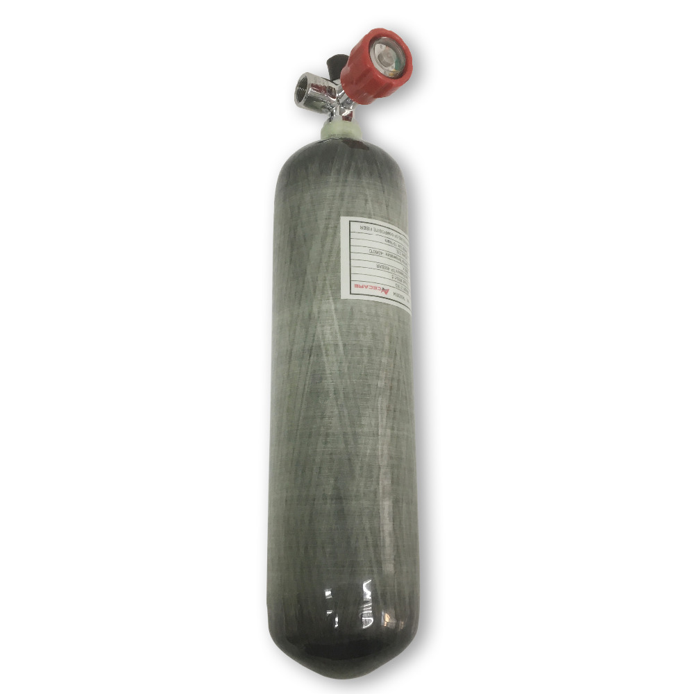 AC10311 Acecare Paintball Air Tank Pcp Airgun 3L CE Certified 4500psi Scuba Diving Tank Balloons Gas Cylinders With Gauge Valve