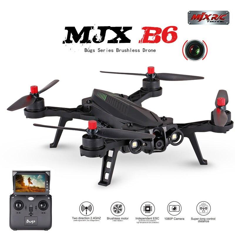 MJX B6 Bugs 6 RC Quadrocopter Drone con 1600kv Brushless motore HD Macchina Fotografica di Wifi trasmissione in tempo reale 14 min tempo di volo 20 KM/H