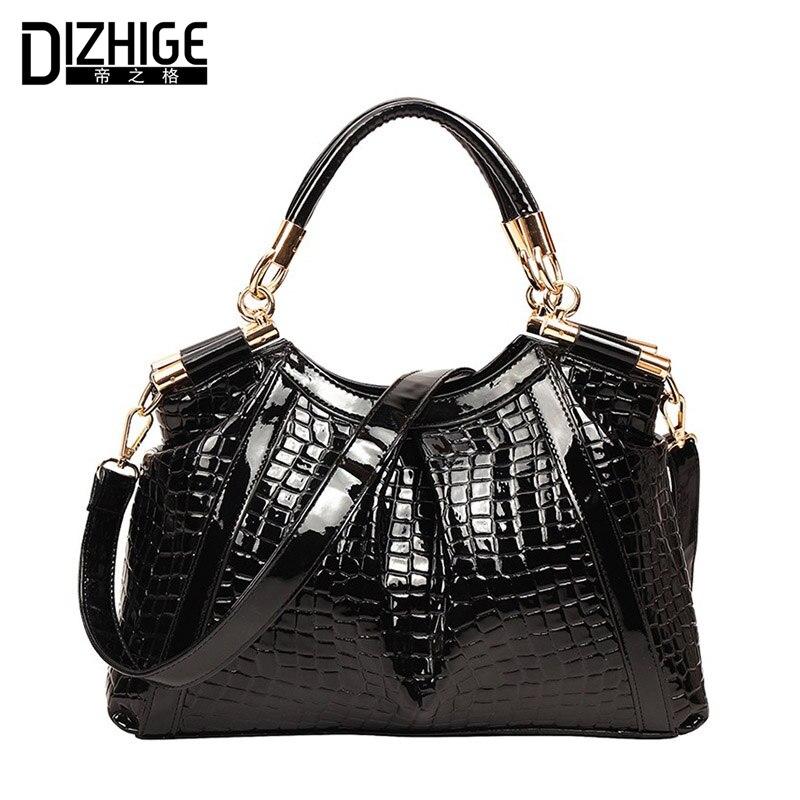 DIZHIGE Brand Fashion Alligator Women Handbags Big Capacity Shoulder Bags Ladies High Quality PU Leather Bags Women Luxury 2018