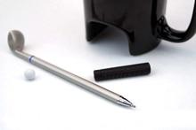Creative Golf Ceramic Cup  with  Golf Stick Pen