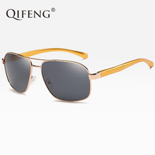 QIFENG Pilot Polarized Sunglasses Men Fashion Driver Aviation AL-MG Sun Glasses For UV400 Male Driving Fishing Oculos de QF016