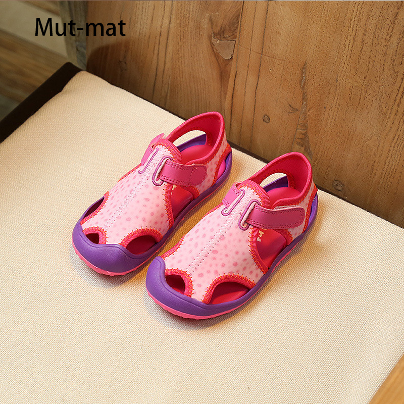 2019 Summer Beach Shoes Size  26-36 Code  Boys And Girl's  Casual Sandals Outdoor Running Shoes