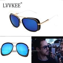 Lvvkee hombres iron man 3 tony matsuda gafas de sol recubrimiento sunglass gafas de sol de gran tamaño de las mujeres luneta gafas de sol feminino