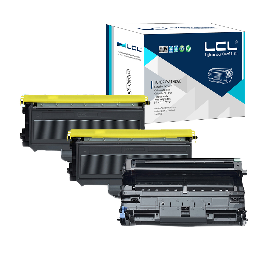 LCL TN2120 TN2110 DR2100 ( 3-Pack ) Toner Cartridge Compatible for Brother HL-2140 HL-2150 HL-2170W MFC-7440N 7450 MFC-7840W