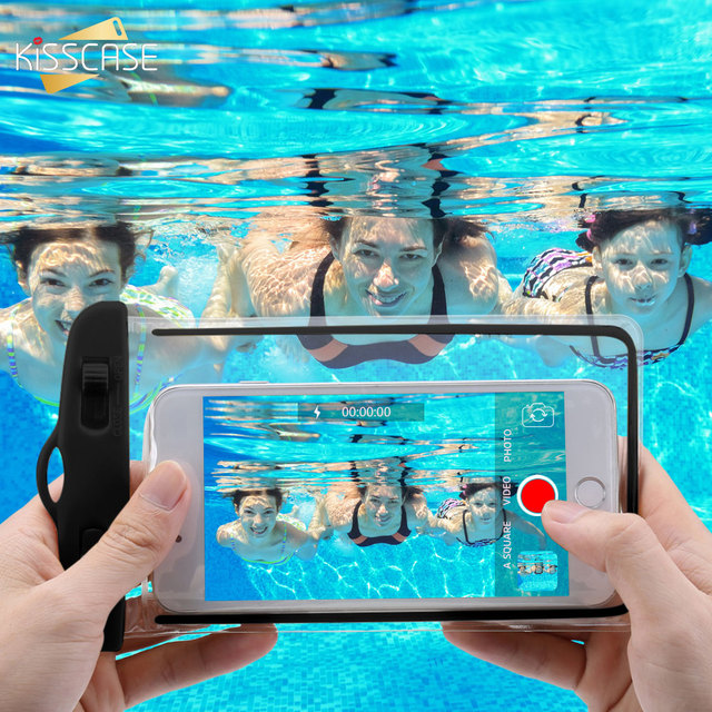KISSCASE Waterproof Phone Case For Samsung S10 S9 A50 A40 A70 A30 Cover Under Water Pouch Bag Case For Huawei mate 20 P30 lite
