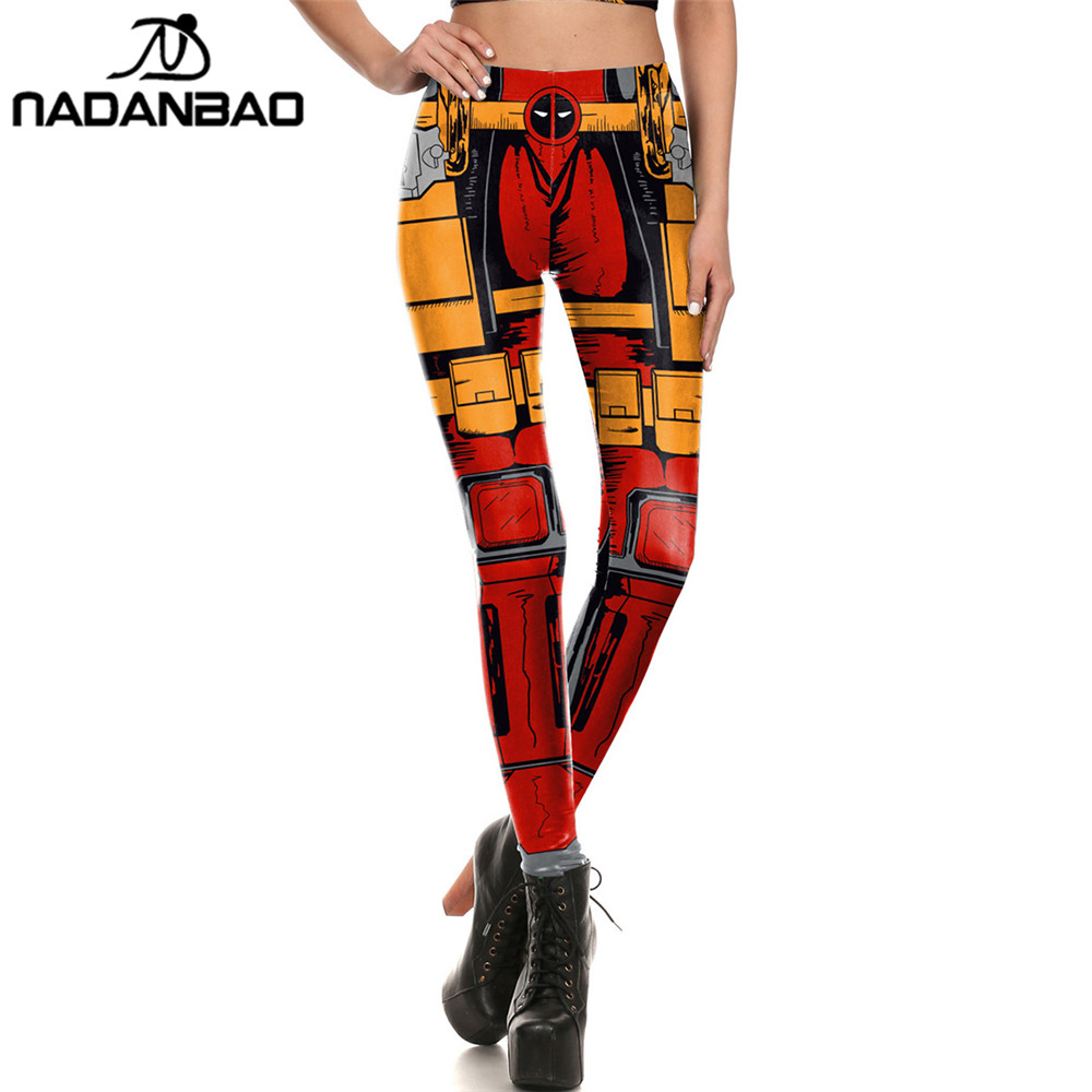 NADANBAO Brand New Women leggings Comic style Super HERO Dea