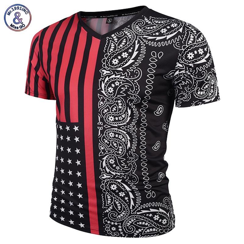 Paisley flowers t shirt men women v neck 3d t for T shirt printing usa