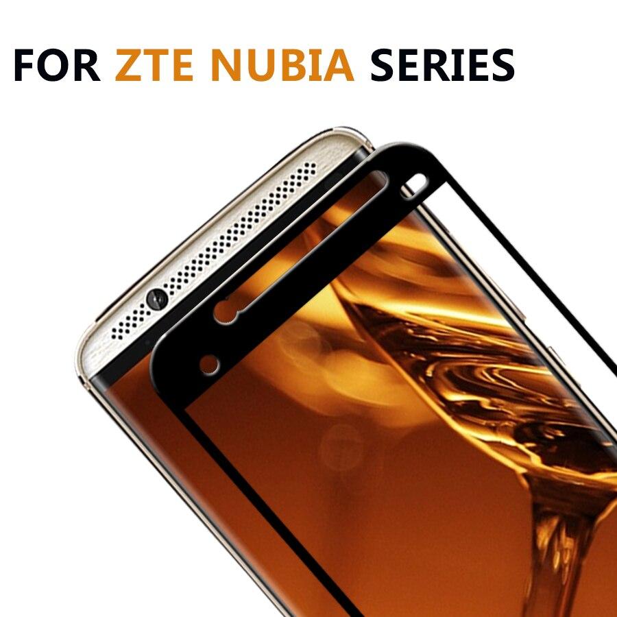 Tempered Glass For ZTE Axon 7 Glass Screen Protector For ZTE V8 Nubia Z17 Nubia Mini S Glass Z 17 Mini V8 Full Cover Case