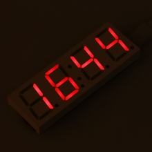 цена на Electronic DIY Dot Matrix LED Clock Kit Digital Display Green/Red/Blue/White Light 5V Micro USB Car Number Clock