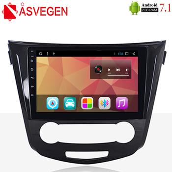 Asvegen Car Radio Multimedia DVD Playe For Nissan Qashqai 2014 2015 2016 2017 10.2'' Android 7.1 4G WIFI Stereo GPS Navigation image