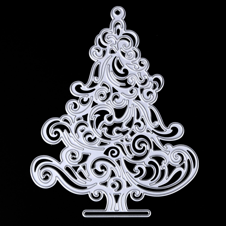 Metal de acero al carbono árbol de Navidad muere plantillas molde ...