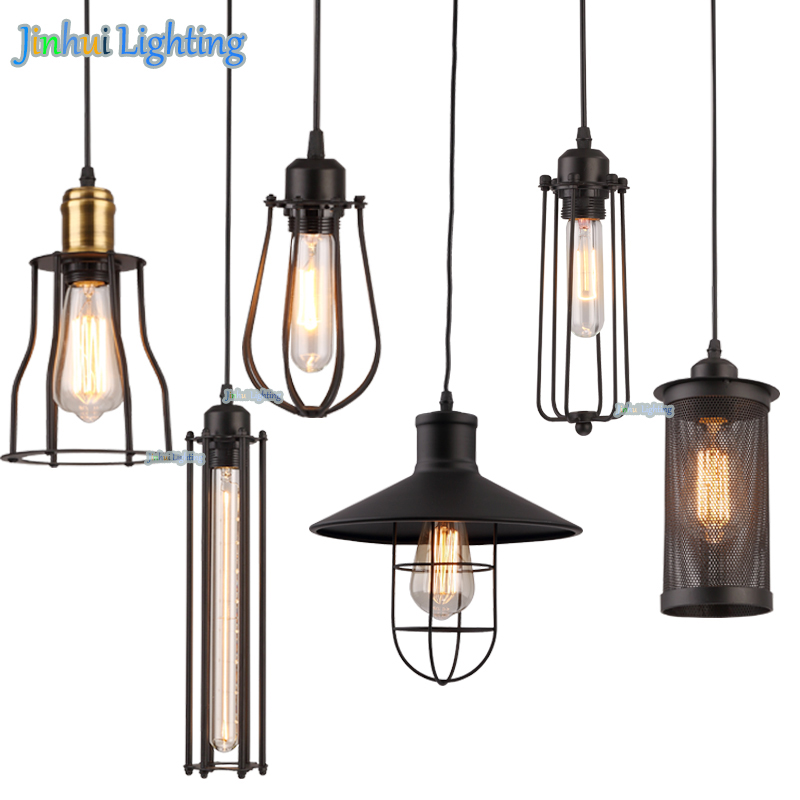 Brand new 6 styles American Loft Vintage Lamps Personality Balcony Wrought Iron Pendant Lights,retro Edison Pendant Lamps brand new 2015 6 48 288 a154