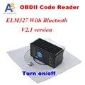 Nova Versão v2.1 Super Mini ELM327 Bluetooth OBD-II OBD Pode com Power Switch ELM 327 OBD2 interface de Diagnóstico Frete grátis