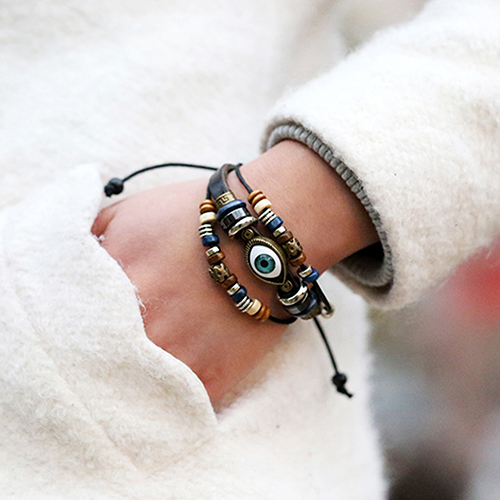 Leather Adjustable Bracelet 1
