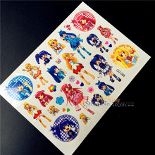 Cartoon Balala Magic Fairy Temporary Tattoo Stickers Kids HCG-088 Fake Flash Tattoo Beauty Girls Harajuku kawaii Tatoo Body Art