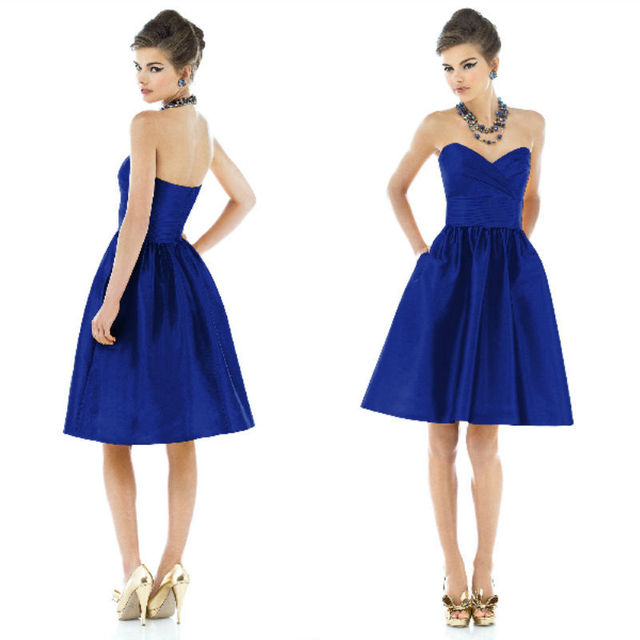 Desinger New Arrival Navy Blue Sweetheart