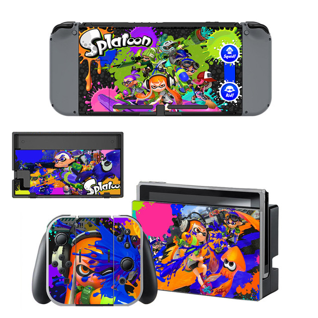 Nintendoswitch Stickers Splatoon 2 Switch Skin Nintend Switch Sticker Compatible with Nintendoswitch console,Joy-Con,Controller