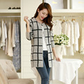 2016 New Spring Hot sale 100 Cotton Women Cardigan Show Sexy Mohair Plaid Sweater Upscale Classic Women Cardigan Christmas Gift