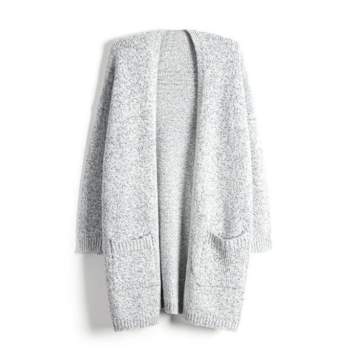 Fashion Women Long Sleeve Knitted Cardigan Sweater Outwear Coat Jacket Plus Size