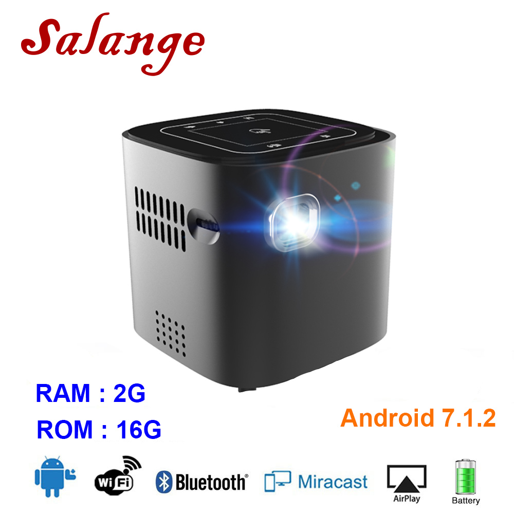 Salange 2019 Mini Pocket Projector Android 7 1 2 OS For Full HD 1080P Portable DLP