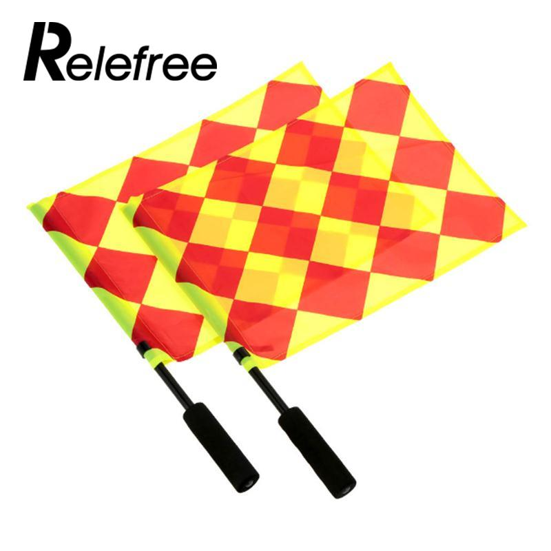 New Referee Soccer Flag The Soccer Ball Fair Play Sports Match Football Linesman Flags Sports Tools Training Equipment Futbol