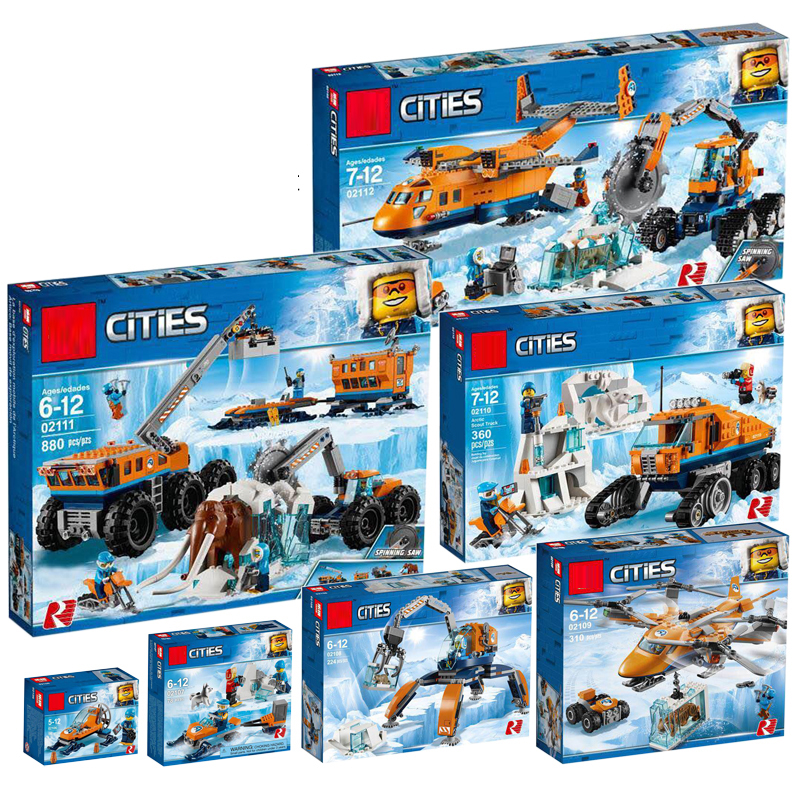 City Arctic Sets Mobile Exploration Base Compatible Legoing 60192 60193 60194 60195 60196 Model Building Kits