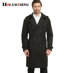 Image 4 - S 6XL Trench Coat Men British Style Spring Autumn Pea Coats Double Breasted Slim Solid Mens Wind Coat Windbreaker 4 color