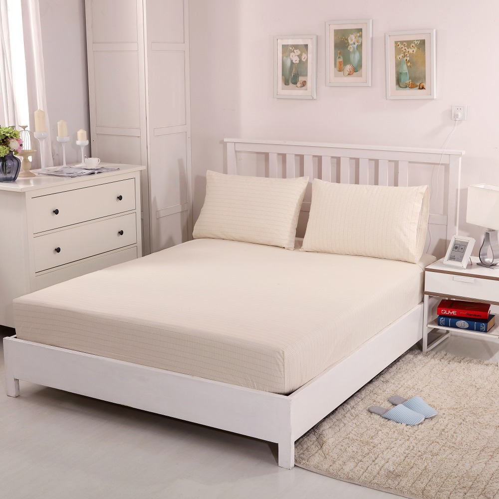 Grounded earthing Beige Fitted sheet EFM Protection Antistatic bed sheet standard Twin Full Queen King with