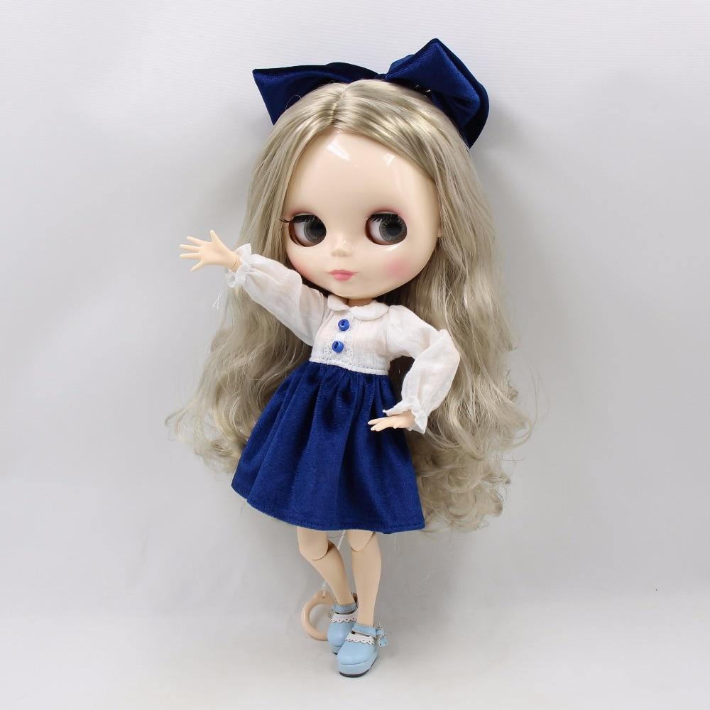 Fabryka blyth doll bjd srebrne włosy biała skóra wspólne ciało 30cm 1/6 230BL3167 w Lalki od Zabawki i hobby na  Grupa 3