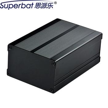 2.99″*1.81″*4.33″ Black Anodized Aluminum Electronics Enclosure Power Amplifier Chassis HIFI Vacuum Tube PCB Box 76*46*110mm DIY