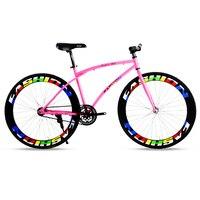 2017 Высокое качество 26 дюймов колеса Рама фиксированная Шестерня изогнутый луч велосипед даунтакт велосипед дорожный алюминиевый сплав рам