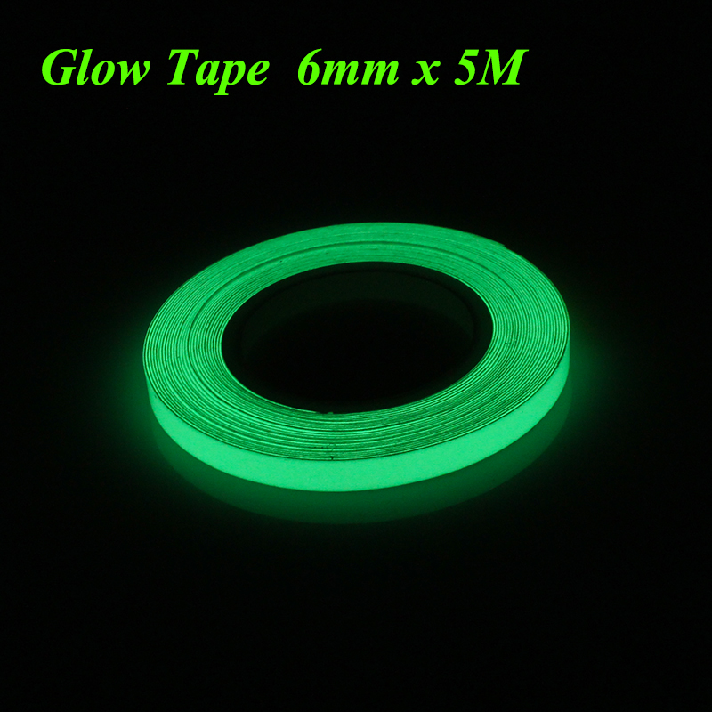 Earnest 6mmx5m Green Glow In Dark Tape Luminous Tape Self-adhesive Stage Home Decoration Office & School Supplies