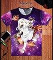 Colorido de la Historieta T-shirt Estilo Japón Anime Kantai Colección Haruna Cos Camiseta Ocasional Del Verano Camisetas