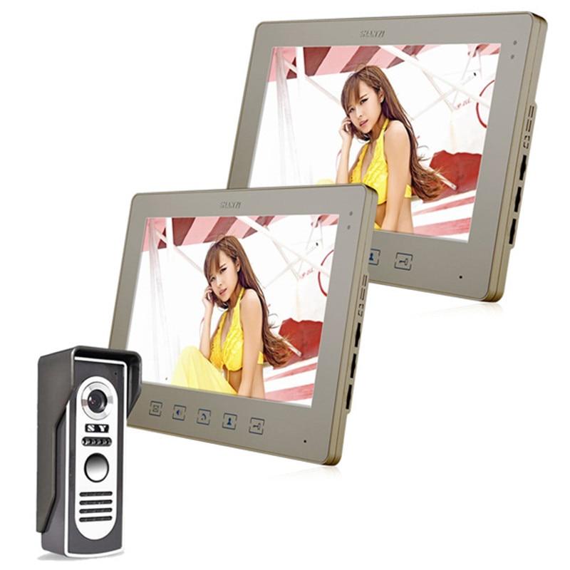 10.1 Inch Video Door Phone Doorbell Intercom Kit 1-camera 2-monitor Night Vision IR Security Camera10.1 Inch Video Door Phone Doorbell Intercom Kit 1-camera 2-monitor Night Vision IR Security Camera