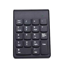 Yeni moda kablosuz 2.4g Mini Usb 18 tuşları sayı Pad sayısal tuş takımı klavye Pc Laptop için hava fare Touchpad klavyeler