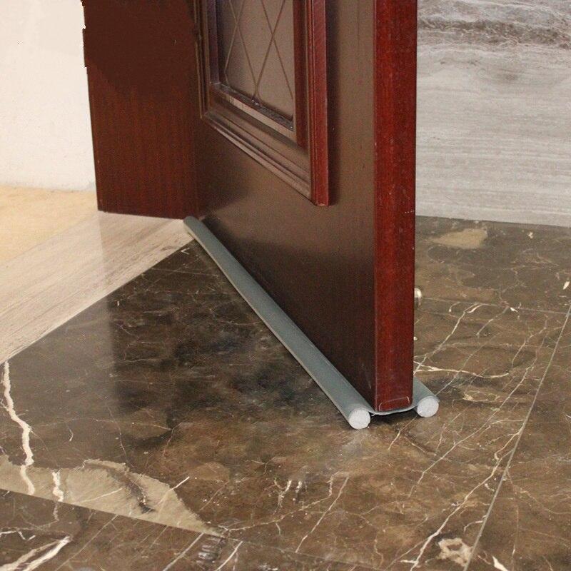 93CM flexible door Bottom sealing strip Guard Wind Dust Blocker Sealer Stopper Twin Door Decor Protector Doorstop Draft Dodger in Sealing Strips from Home Improvement