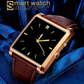 2016 SmartphoneBluetooth Smart Watch  DM08 Leather with Camera IPS Screen 360mAh Battery Waterproof for IOS iPhone Android  P20