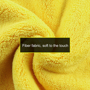 Image 1 - 30*30/60CM Car Wash Towel Microfiber yellow gray sides Cleaning Drying Towe Coral velvet double sided designCar Wash Towel