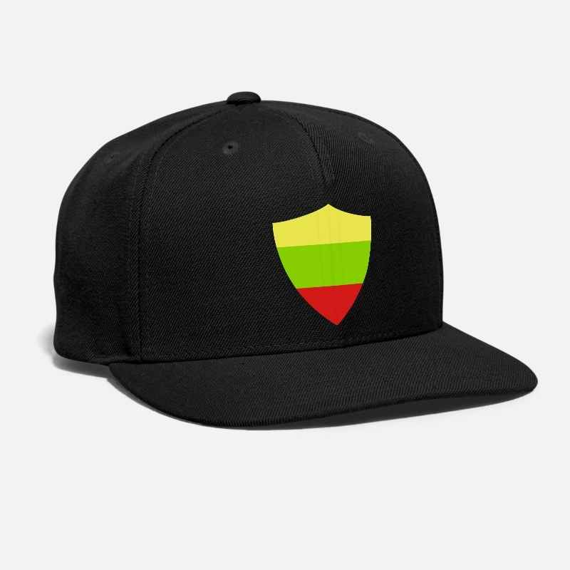 Buy Lithuania Badge hat Embroidery Vilnius Flag Emblem Shield East Europe country coat of arms Russia Unisex Adjustable Snapback Cap for only 12.85 USD