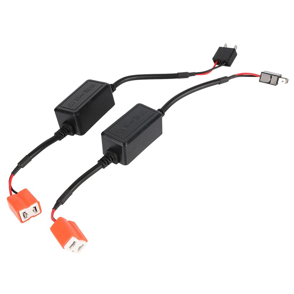 Prix pour 2x H7 EMC Voiture LED HID Décodeur Canbus Phare Brouillard lumière DRL IC Aucune Erreur Résistance de Charge Sans Scintillement Avertissement Canceller
