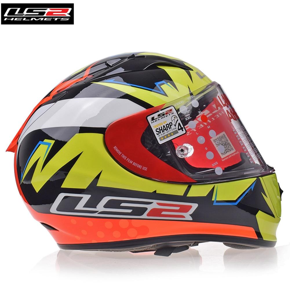 LS2 Casques FF323 FLÈCHE R EVO Plein Visage Moto Casque Racing Casque Casco Capacete Moto Casques Barre Kask grande taille
