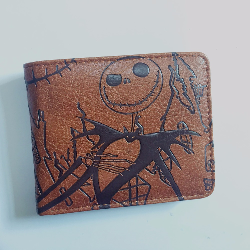 2018 Hot Sale The Nightmare Before Christmas Jack Man Students Short Wallet Leather Wallets Anime W1140Y the spook s nightmare