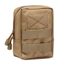 купить 1000D Outdoor Military Tactical Waist Bag Multifunctional EDC Molle Tool Zipper Waist Pack Accessory Durable Belt Pouch по цене 214.49 рублей