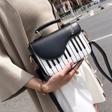 Cute Piano Pattern Skuldertaske Fashion Pu Læder Casual Ladies Handbag Crossbody Messenger Bag Taske Totes Women's Flap