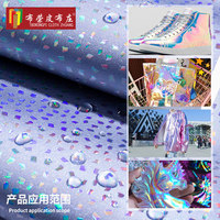 Spotted pattern laser pvc leather fabric Symphony high gloss mirror laser artificial leather 1m