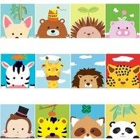 20*20 cm Pinturas A Óleo Por Números Sobre Tela pintura a Óleo Digital Prancheta Brinquedos Para As Crianças Montessori Oyuncak brinquedo oyuncaklar Brinquedos p/ desenhar     -