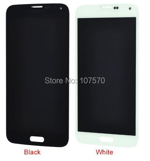 5pcs / lot  DHL free shipping Top Quality 100%  For Samsung Galaxy S5 i9600 Tested Lcd Touch Screen Digitizer Assembly top fashion dhl 5pcs high quality for